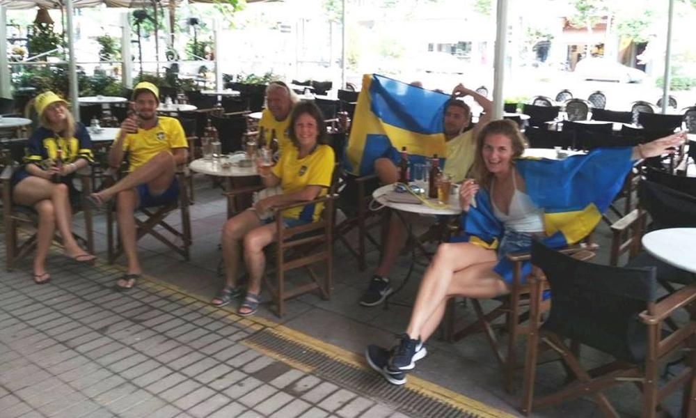 Οι Σουηδοί της… Καλαμάτας, βλέπουν Μουντιάλ!
