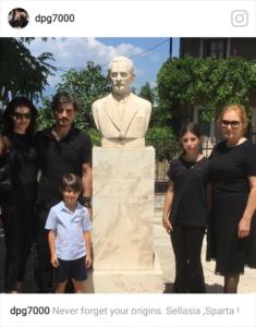Στη  Σελλασία  οικογενειακώς σήμερα, ο Δημήτρης Γιαννακόπουλος (photo)