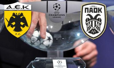 Κλήρωση Champions League Play offs: Αυτοί είναι οι αντίπαλοι για ΑΕΚ και ΠΑΟΚ 12