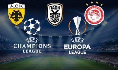 Πού θα δείτε τους ευρωπαϊκούς αγώνες ΑΕΚ, Ολυμπιακού και ΠΑΟΚ 11
