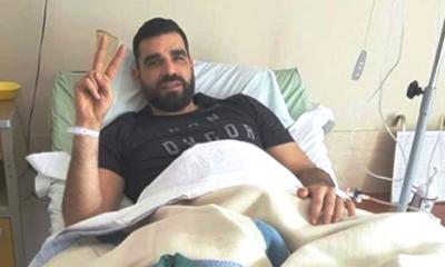 Ο Κωνσταντινέας από το κρεββάτι του, στο νοσοκομείο της Καλαμάτας... 26