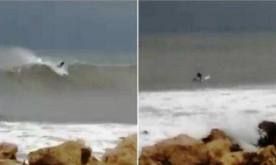 Κυκλώνας Ζορμπάς: Αδιανόητο - Σέρφερ καβαλάει τα κύματα σε Μάραθο Μεσσηνίας (video) 6