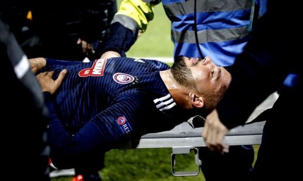 Ολυμπιακός: Ενάμιση μήνα εκτός με ρήξη στον έσω πλάγιο ο Γκερέρο (+ video)