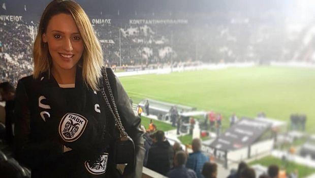 Η Άννα Κορακάκη με κασκόλ του ΠΑΟΚ, με Παναθηναϊκό (photo)
