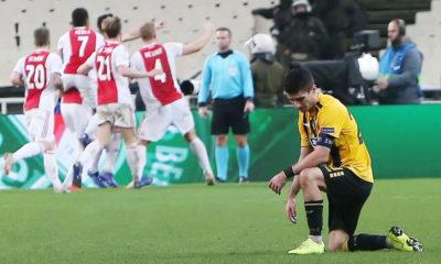 ΑΕΚ – Άγιαξ 0-2: Εικόνα θλίψης και «αντίο» Ευρώπη 8