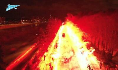 Απίστευτοι οπαδοί: Με... -8 βαθμούς «έκαψαν» την πόλη για να περάσει το πούλμαν! (+video) 10