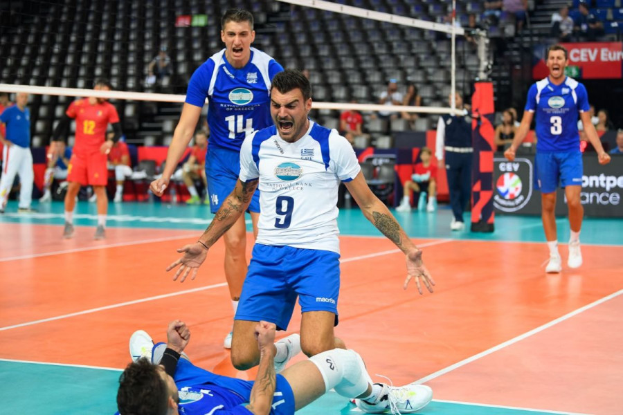 Ευρωπαϊκό ανδρών: Έβγαλε πάθος η Εθνική, 3-1 σετ την Ρουμανία και πρώτη νίκη στο Μονπελιέ