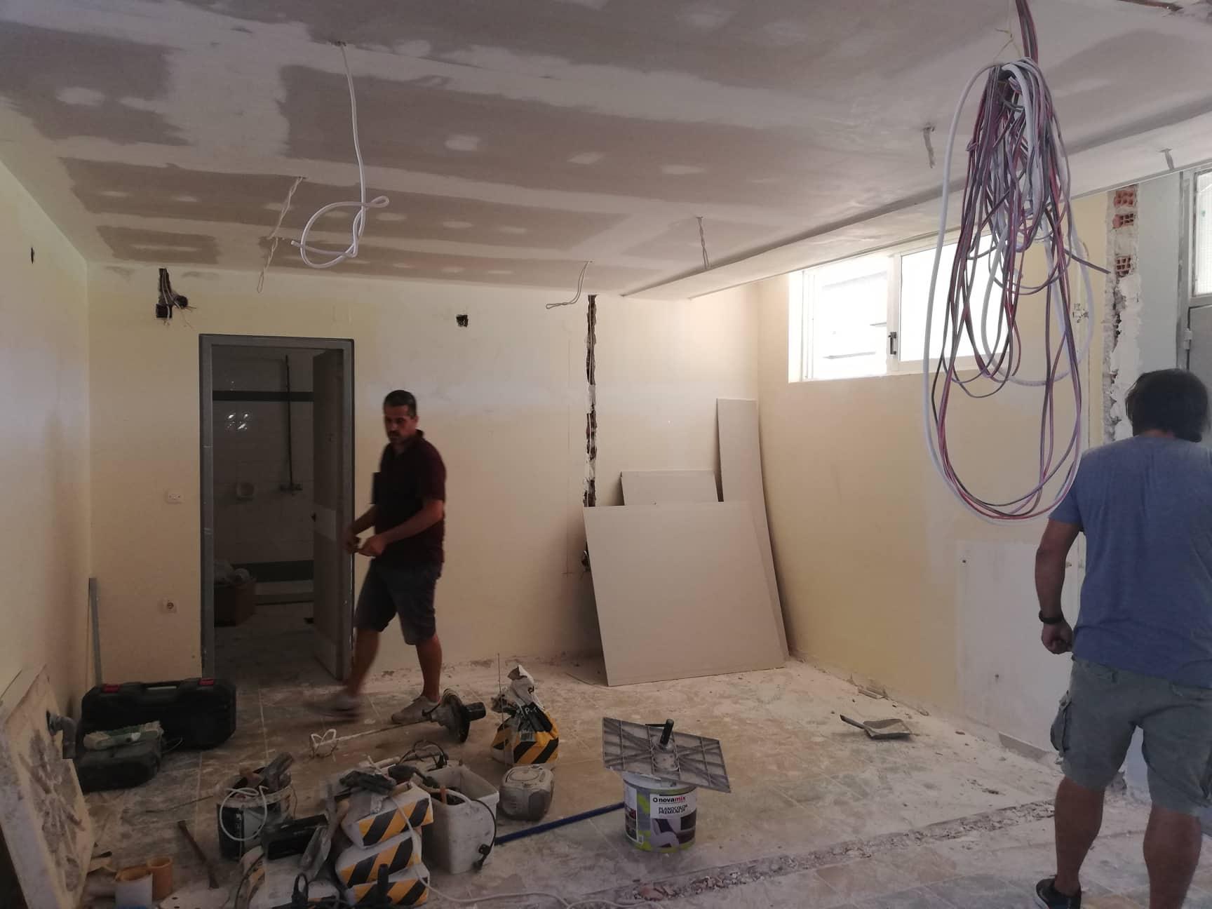 Προχωρούν με εντατικούς ρυθμούς τα έργα στο Δημοτικό Στάδιο Καλαμάτας (photos)