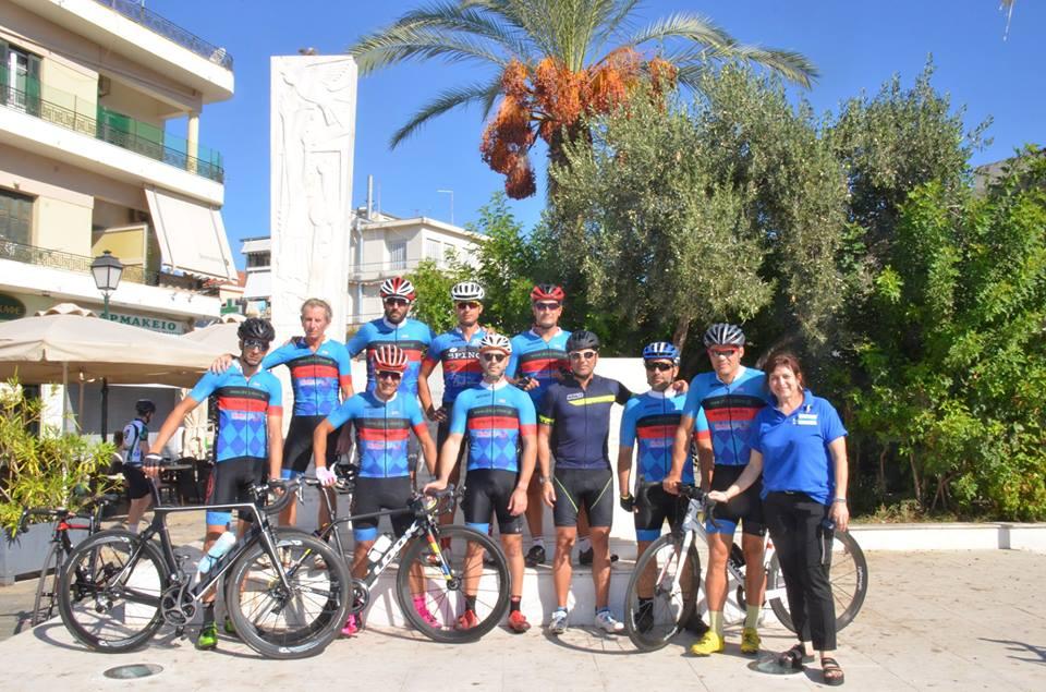 Συνάντηση ποδηλατών του Ευκλή και παράδοση σκυτάλης από τον Βεργετόπουλο στον Σταμάτη