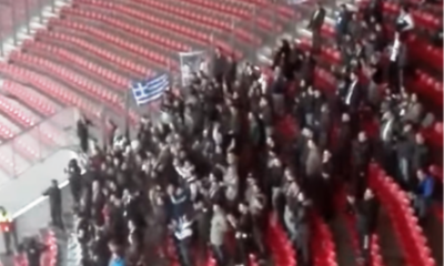 Οι οπαδοί της Μαύρης Θύελλας στο Γεώργιος Καραϊσκάκης (video) 20
