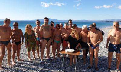 Με τσουχτερό κρύο έκοψαν την πίτα τους οι χειμερινοί κολυμβητές 6