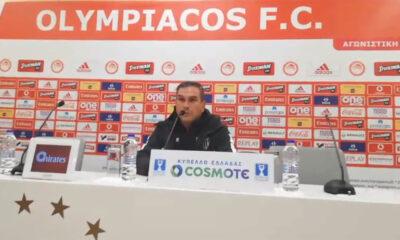 Ολυμπιακός-Καλαμάτα 4-1: Τι είπαν ο Βούζας, Μαρτίνς στη συνέντευξη Τύπου (video) 11