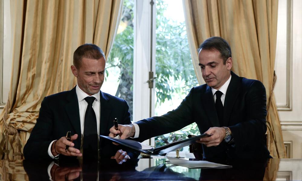 FIFA-UEFA και Κυβέρνηση υπέγραψαν το μνημόνιο συνεργασίας (photo)