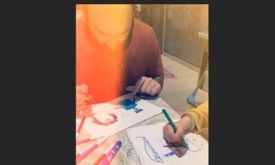 Σπανούλης: Περνάει την καραντίνα ζωγραφίζοντας με τα παιδιά του 23