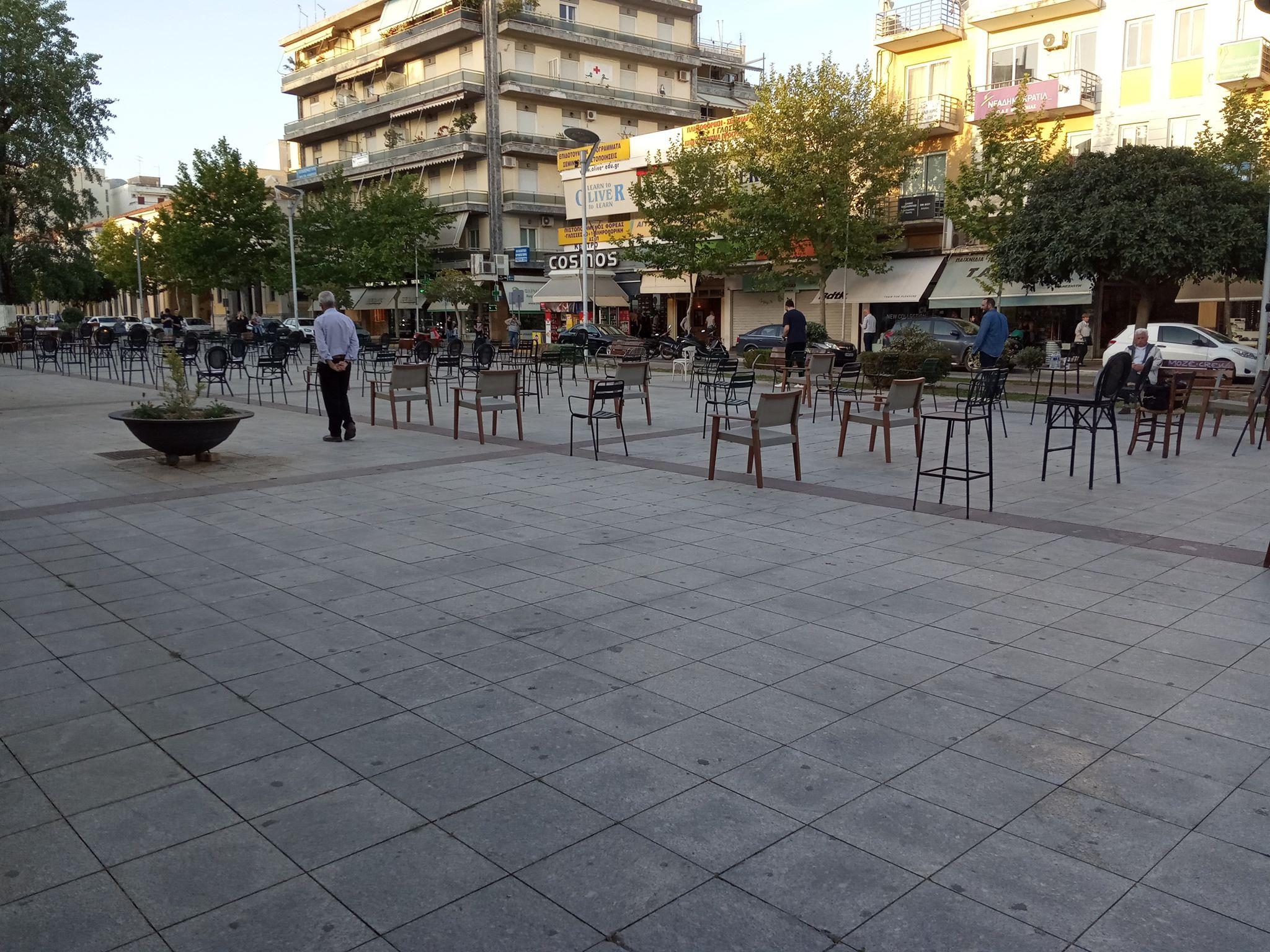 """""""Άδειες καρέκλες"""": Δράση για την εστίαση από τους επαγγελματίες της Καλαμάτας (+video)"""