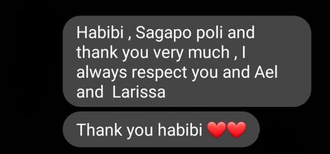 """Ουάρντα σε Κούγια: """"Habibi, sagapo poli and thank you"""""""