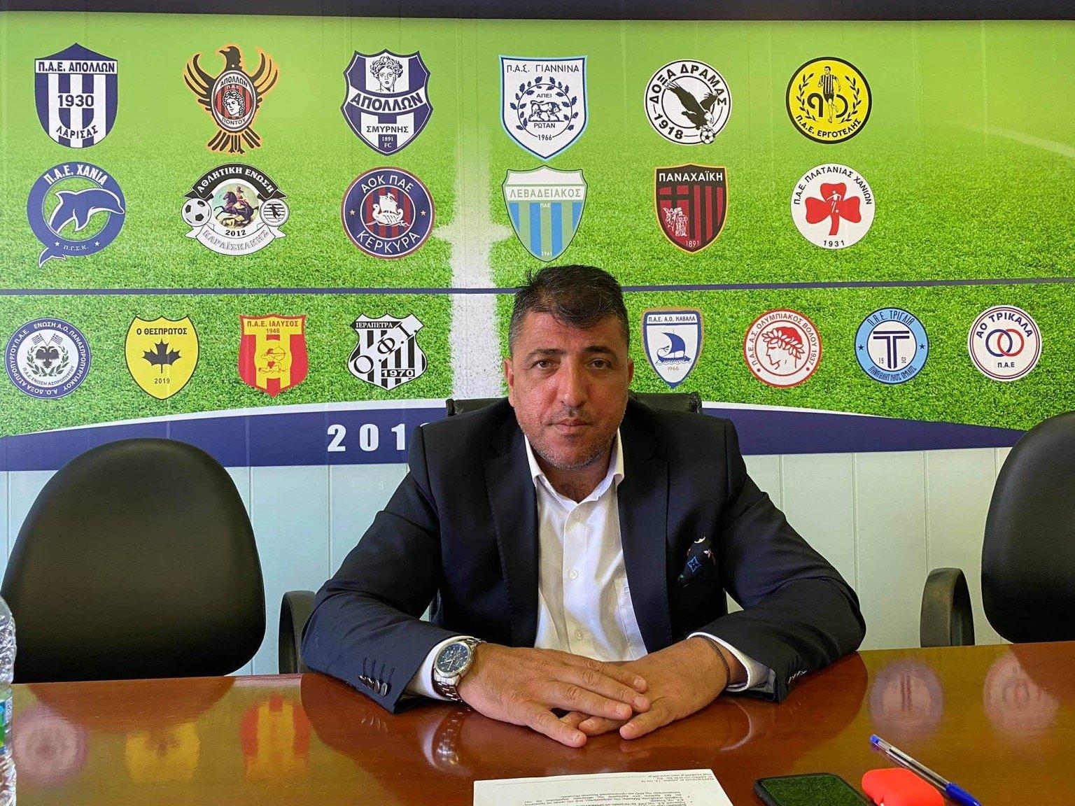 """Λεουτσάκος:  """"Εμβόλιμες Τετάρτες στη Super League 2 και Football League…"""""""