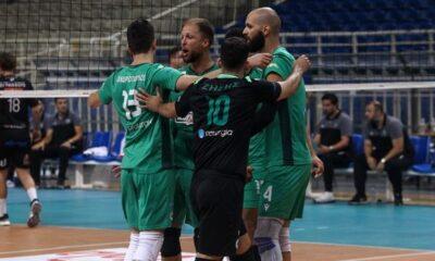 Παναθηναϊκός - ΠΑΟΚ 3-0: Έστειλαν τη σειρά σε τρίτο ματς οι πράσινοι 8