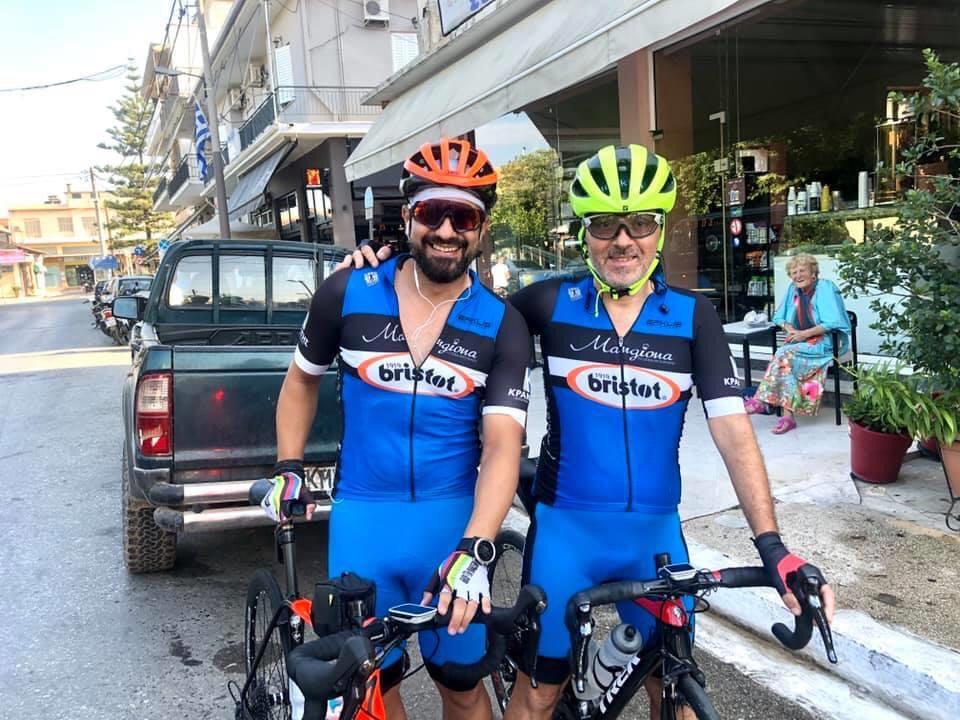 """Αγωνιστική ποδηλασία: 3η και 4η θέση για Ρήγα και Λαχανά του Ευκλή στο Brevet του """"Γύρου Μεσσηνίας"""""""