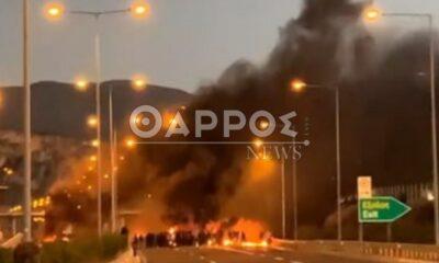 Σοβαρά επεισόδια στo Αρφαρά – Φωτιές από Ρομά, κλειστός ο δρόμος για Αθήνα (+pics) 20
