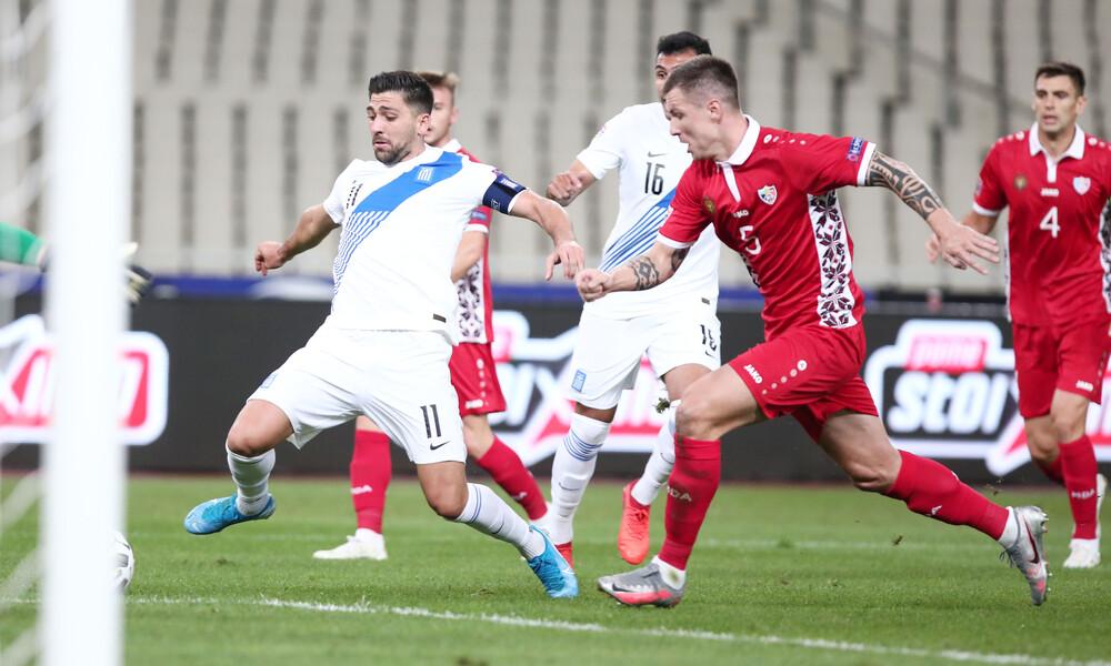 Ελλάδα-Μολδαβία 2-0: Σβηστά στην κορυφή με Μπακασέτα, Μάνταλο (+video)