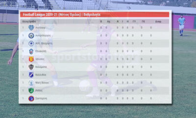 Βαθμολογίες SL2, Football League, Γ' Εθνικής κι όχι μόνο, με ένα κλικ
