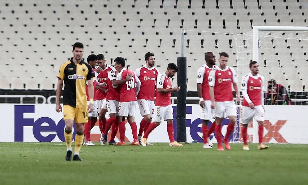 ΑΕΚ-Μπράγκα 2-4: Τραγική εμφάνιση, ντροπιαστική ήττα! (+videos)