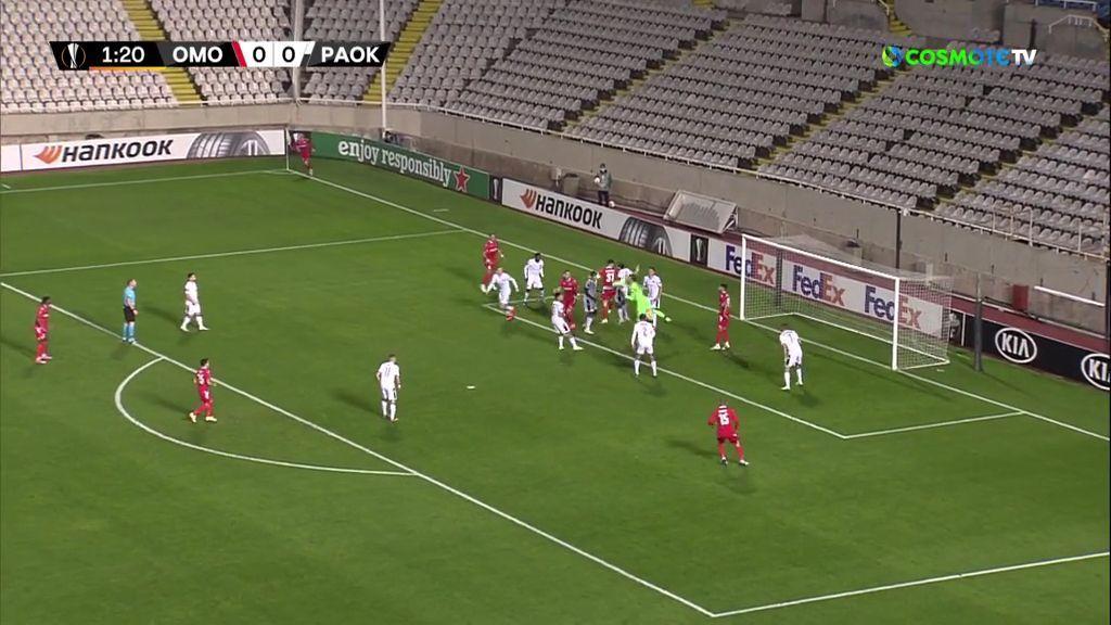 Ομόνοια – ΠΑΟΚ 2-1: Γκολ και highlights (video)