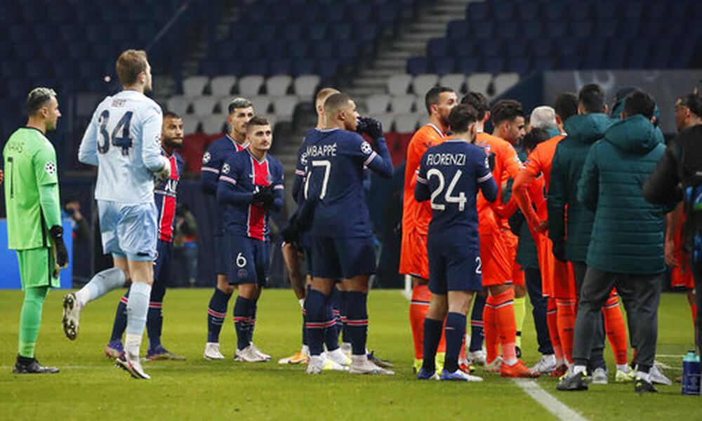 Champions League: Διεκόπη οριστικά το Παρί-Μπασακσεχίρ – Έξαλλοι οι Τούρκοι, παρέμβαση Ερντογάν