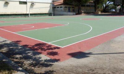Πλαστικοποίηση γηπέδων μπάσκετ και βόλεϊ στην Καλαμάτα 6