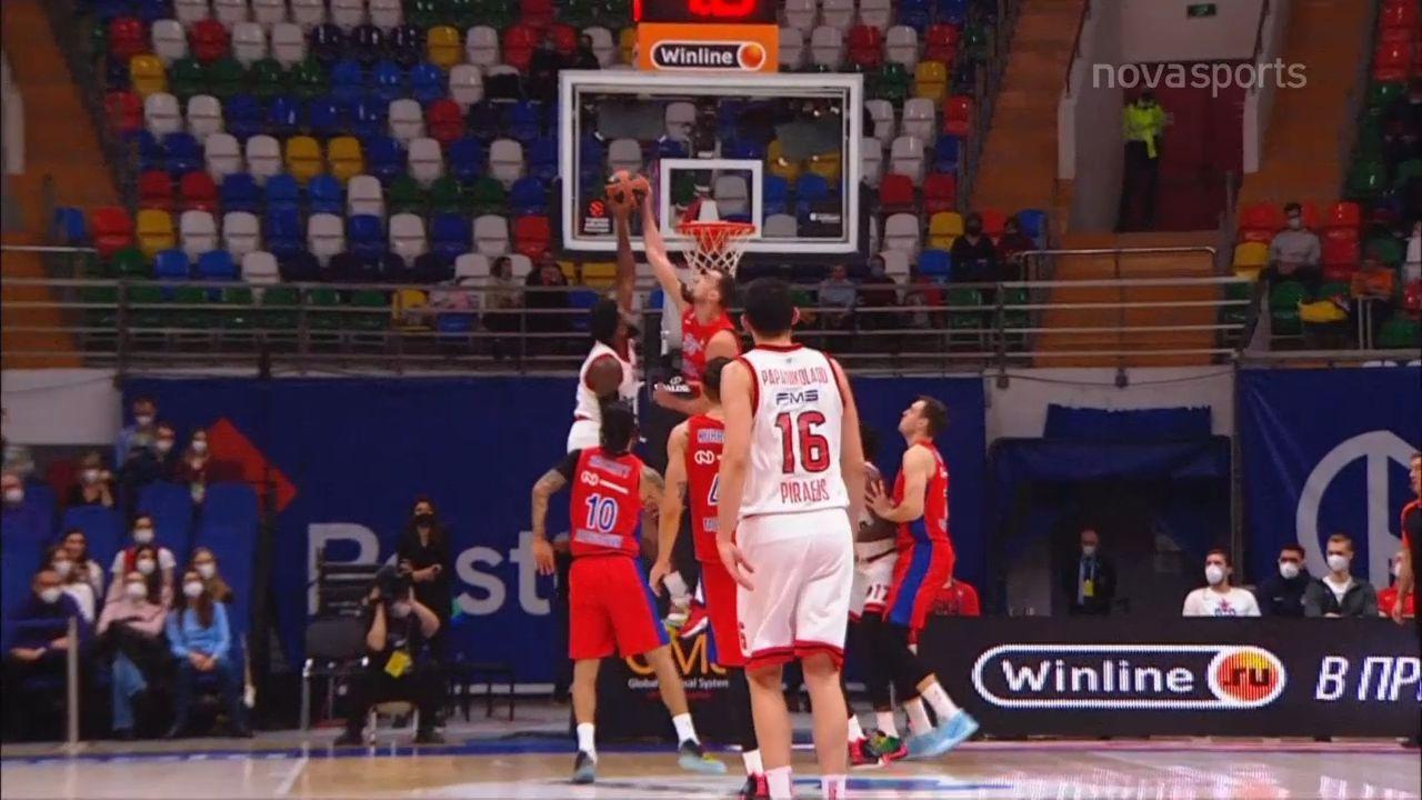 ΤΣΣΚΑ Μόσχας -Ολυμπιακός 80-61: Highlights (video)