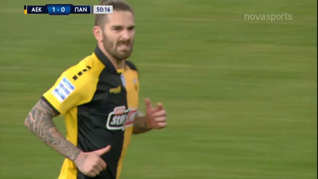 ΑΕΚ – Παναιτωλικός 1-0: Γκολ και highlights (video)