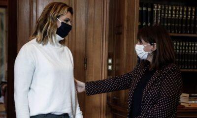 Μπεκατώρου: Συναντήθηκε με την ΠτΔ, Κατερίνα Σακελλαροπούλου (+pics)