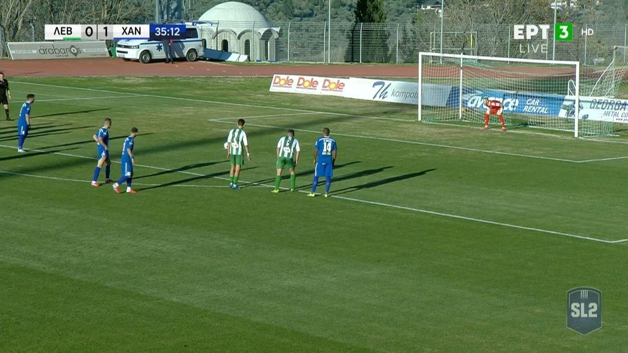 Λεβαδειακός-Χανιά | Δεν έκανε το 0-2 ο Διαμαντόπουλος, αστόχησε σε πέναλτι (video)