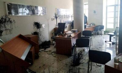 Η επίθεση στο γραφείο του Αυγενάκη στο Ηράκλειο... (+pics) 4