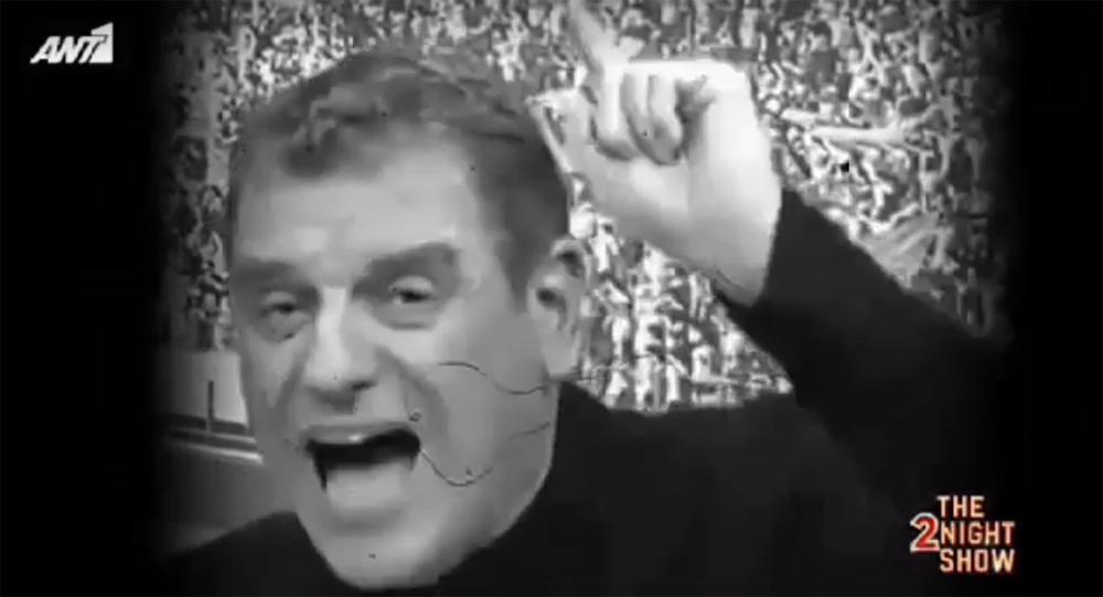 """Το """"χώσιμο"""" του Σωτήρη Γεωργούντζου στο Νίκο Μουτσινά και στο The 2Night Show (video)"""