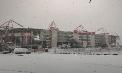 """Ολυμπιακός: Ντύθηκε στα λευκά λόγω χιονιού το """"Γεώργιος Καραϊσκάκης"""" (+pics) 5"""