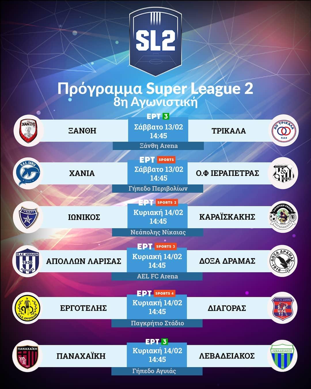 Super League 2 – 9η αγωνιστική: Το νέο πρόγραμμα μετά την αλλαγή