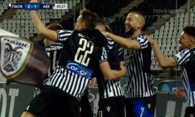 """ΠΑΟΚ-ΑΕΚ: 2-1, ο Σφιντέρσκι σκοράρει 16"""" μετά την σέντρα! (video) 6"""