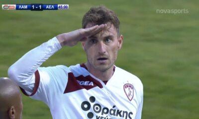 Λαμία - ΑΕΛ: Σε κόρνερ Γιακιμόφσκι, 1-1 με... κεφαλιά του Επασί (video) 14