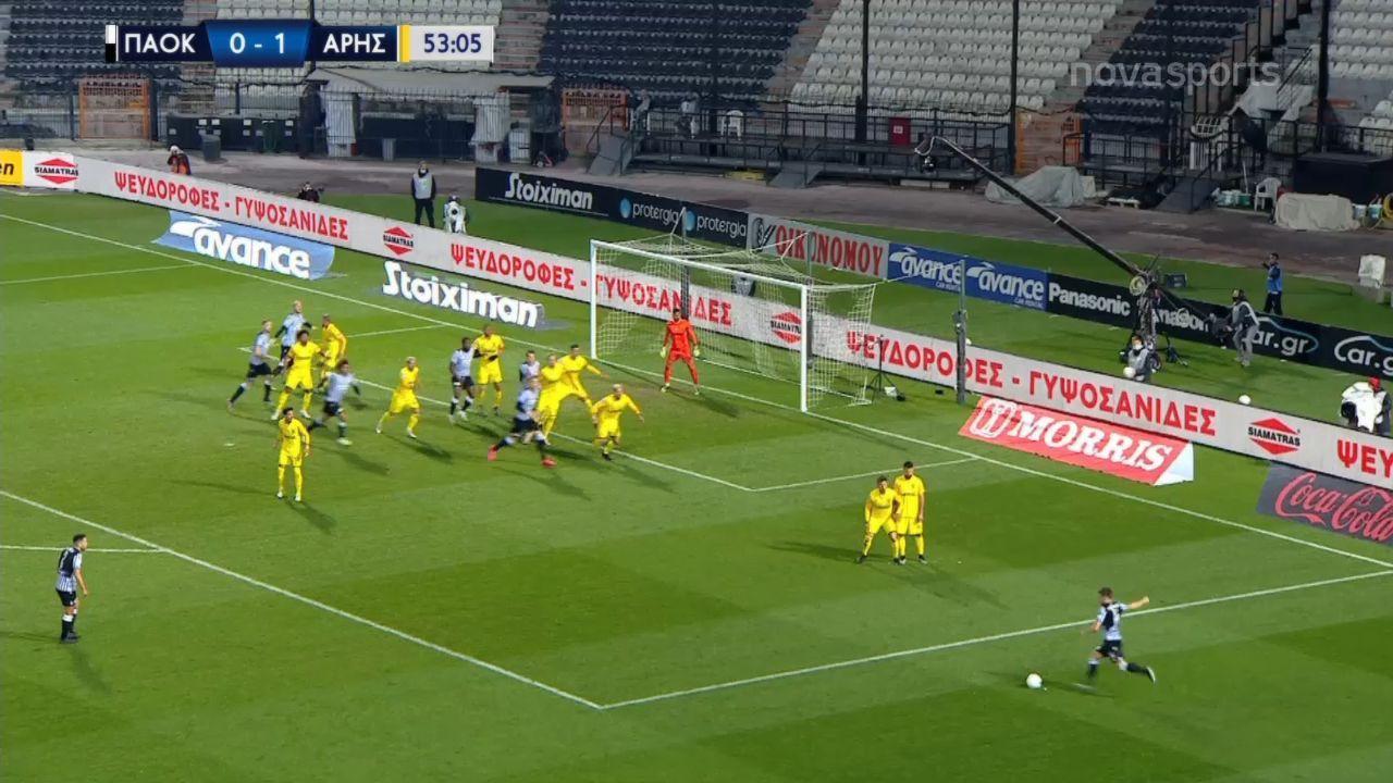 ΠΑΟΚ – Άρης 2-2: Γκολ και highlights (video)