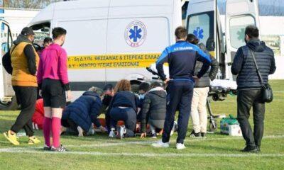 Γ Εθνική : Πάνω από 45' (!) το ασθενοφόρο για να παραλάβει τραυματία ποδοσφαιριστή! (photos+vid) 5