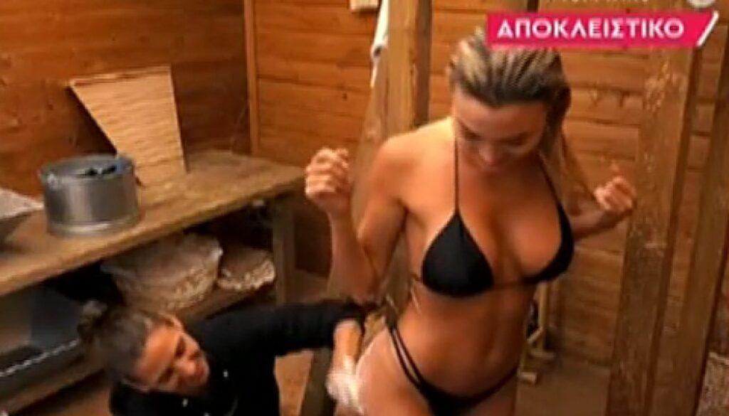 Φάρμα: Η Αλεξάνδρα Παναγιώταρου πλύθηκε και έφυγε κυρία! (videos)