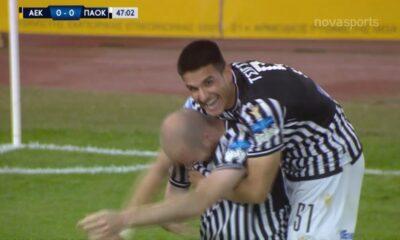 ΑΕΚ – ΠΑΟΚ 1-2: Τα γκολ και οι καλύτερες φάσεις (video)