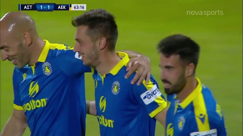 Αστέρας Τρίπολης – ΑΕΚ 1-1: Τα γκολ (video)
