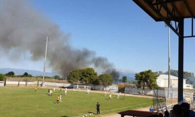 Χάος στη Γ' Εθνική - 29 προσαγωγές μετά από πυρκαγιά λόγω καπνογόνου (+video) 6
