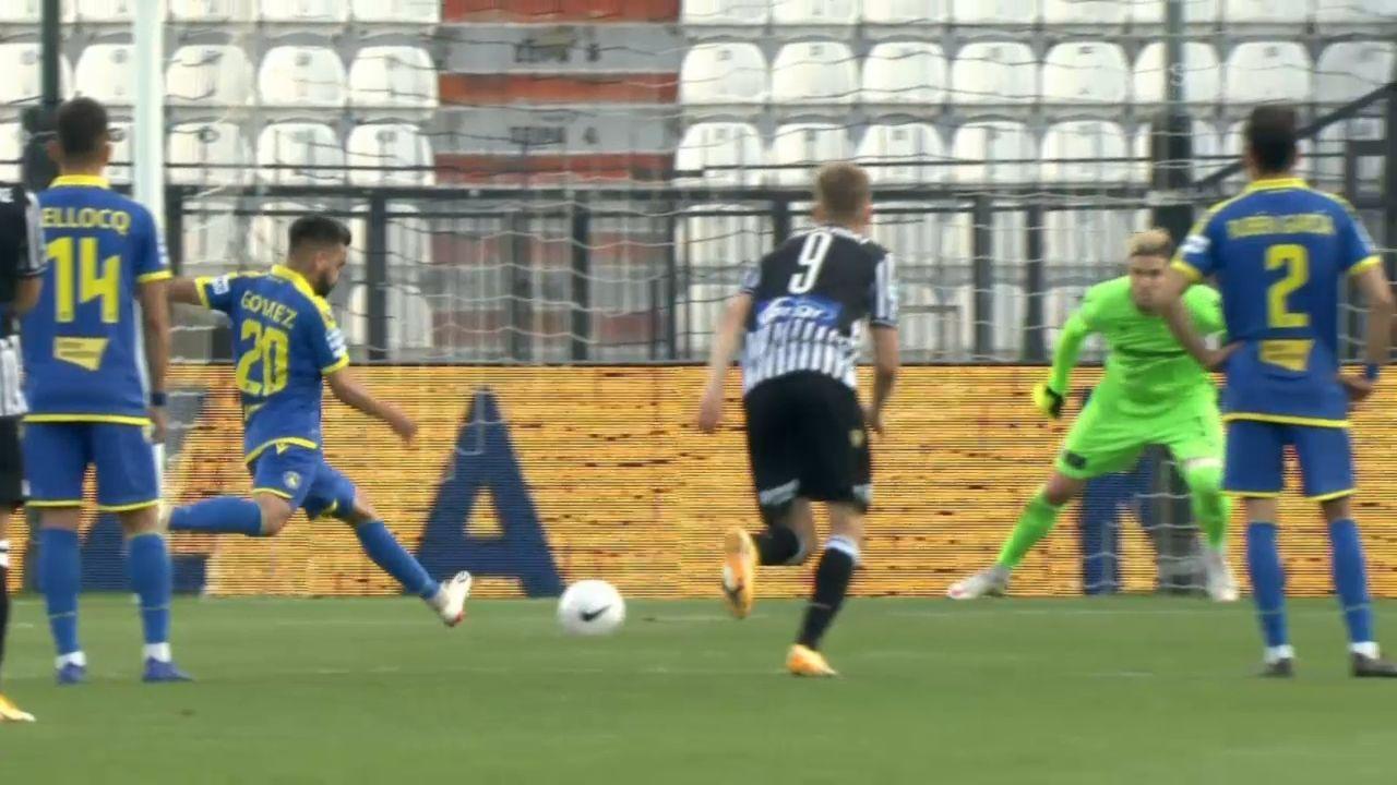 ΠΑΟΚ – Αστέρας Τρίπολης 0-1: Το γκολ (video)