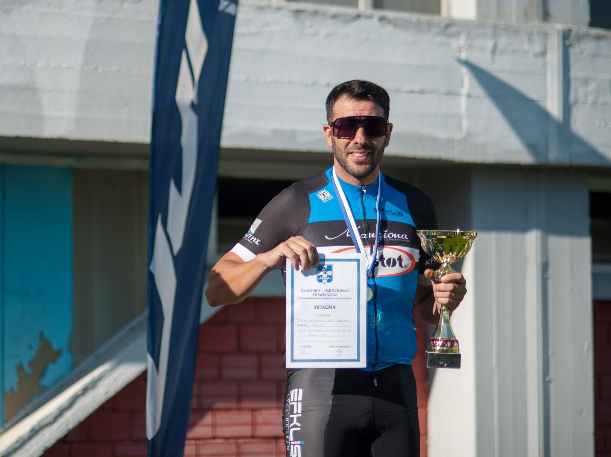 """Ευκλής Καλαμάτας: """"Πρωταθλητής για 2η συνεχόμενη χρονιά ο έμπειρος ποδηλάτης Κεφάλας Αριστόδημος, στην ατομική χρονομέτρηση στο Τοπικό Πρωτάθλημα Πελοποννήσου – Δυτικής Ελλάδας"""""""