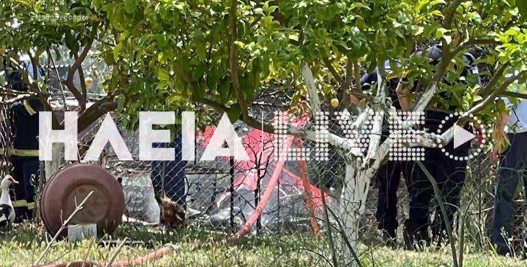 Ηλεία: Δύο νεκροί μετά από πτώση ιδιωτικού αεροσκάφους (videos)