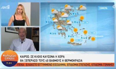 Η πρόγνωση του καιρού από τον Τάσο Αρνιακό | Παρασκευή 25/06/2021 (video) 8
